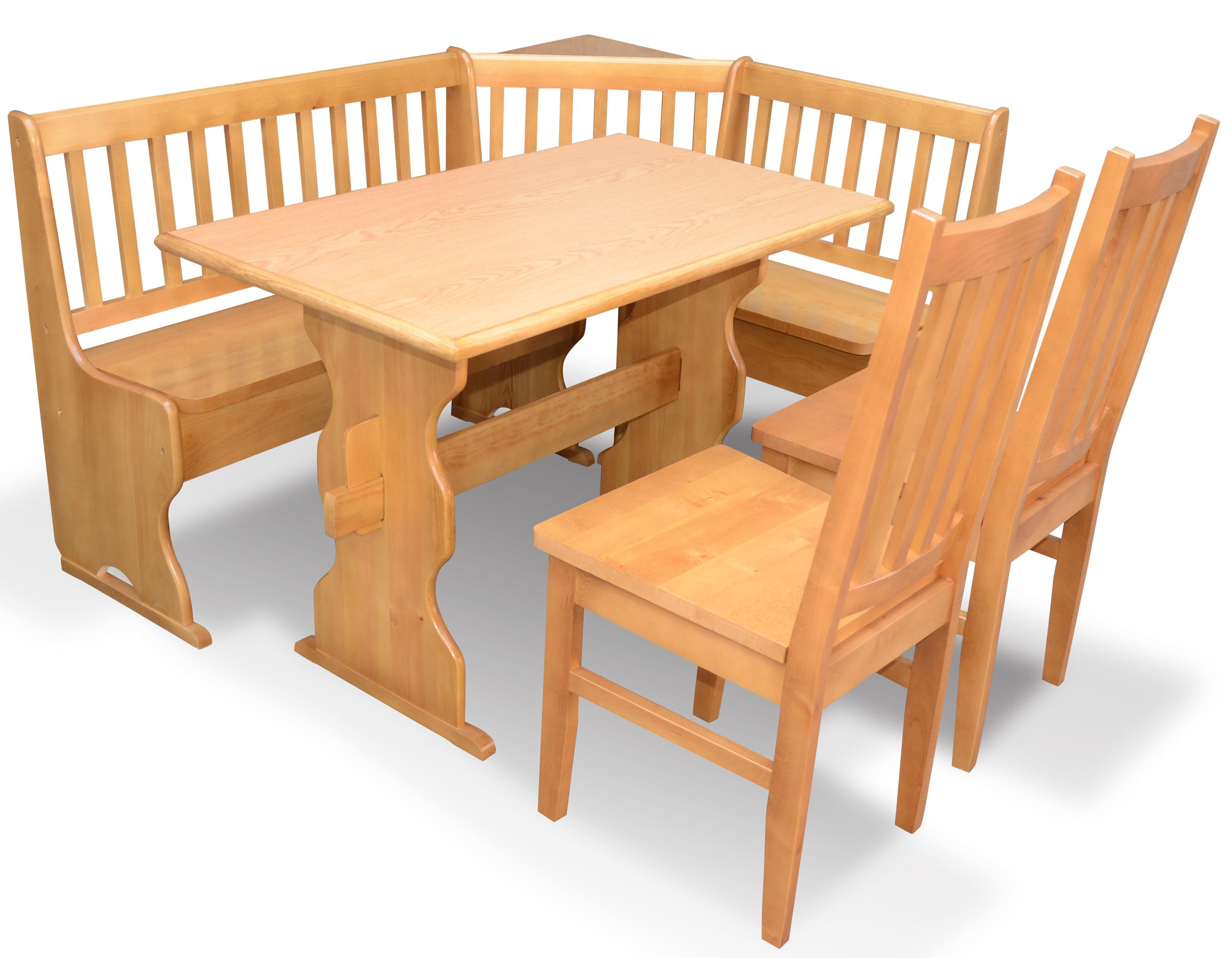 Narożnik Kuchenny Stół I Krzesła Olcha