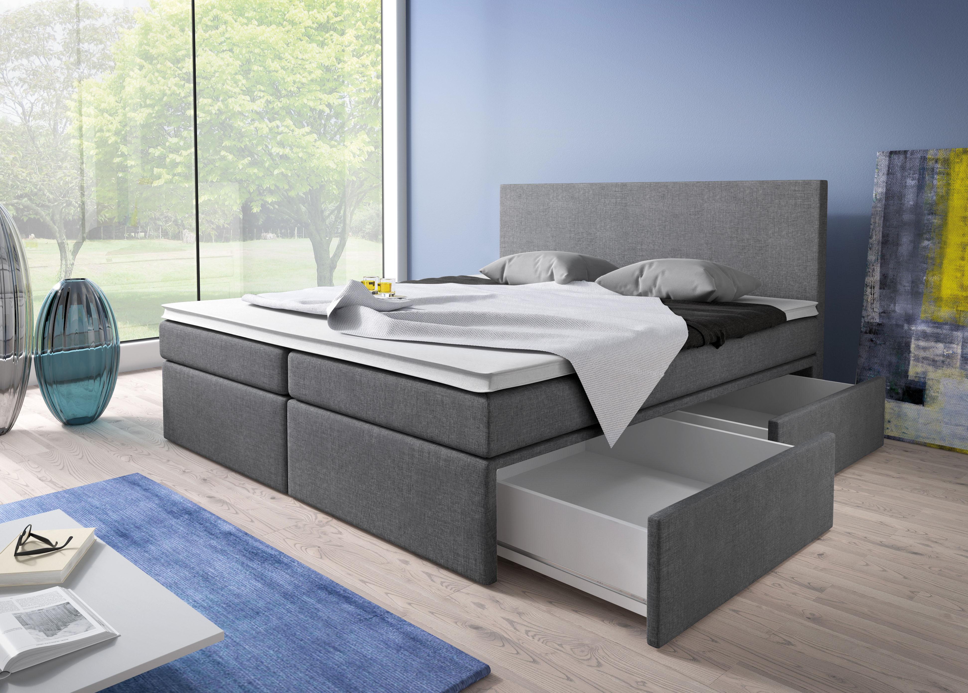 łóżko Sypialne Z Materacem 180 Cm X